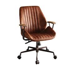 acme furniture hamilton cocoa leather top grain leather office chair
