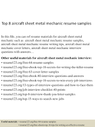Mechanic Resume Top10000aircraftsheetmetalmechanicresumesamples10000lva100app61000092thumbnail100jpgcb=1001003763610055 66