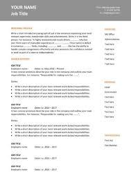 Professional Cv Format Download Cv Templates Impress Employers