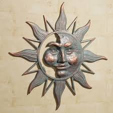 Small Picture Adorable 3D Sun Face Metal Wall Art Decorating Ideas Popular Home