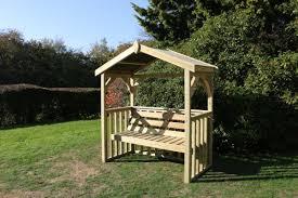 anastasia 3 seat garden arbour wooden