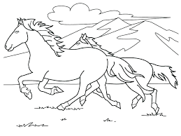 Horses Coloring Pictures Horses Coloring Pages Wild Horse In Running
