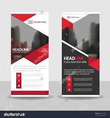 red triangle business roll up banner flat design template red triangle business roll up banner flat design template abstract geometric template vector illustration set