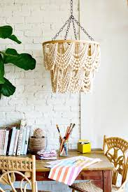 make your own bead chandelier