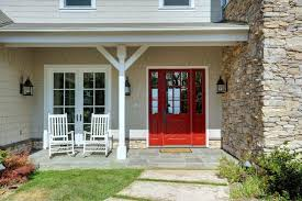 cottage style front doorsCottage Front Door with Stone surrounding  exterior stone floors