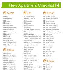 Sample New Apartment Checklist imagessampletemplateswpcontentuploads100 2