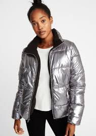 old navy metallic frost free jacket for women