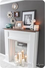 diy faux mantle fireplace
