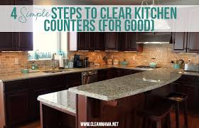4 simple steps to clear kitchen counters for good