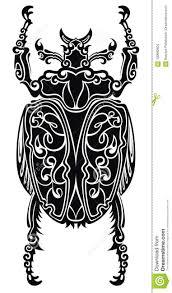 скарабей художника татуировки стилизованный иллюстрация вектора