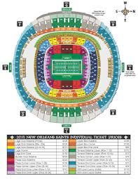 Saints Season Tickets Price Chart New Orleans Saints Tickets Mercedes Saints Game Seating Chart