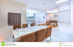 Moderne Artwohnung Kombiniert Wohnzimmer Esszimmer Großer