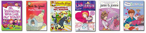 cam jansen and the valentine baby mystery or any of the other kids valentines day chapter books listed below all very por and fun to read around