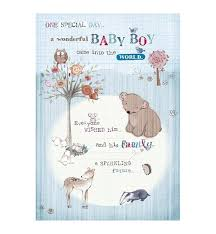 Card For Baby Boy Baby Boy Greetings Card