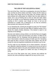 calameo the lord of the flies critical essay  the lord of the flies critical essay