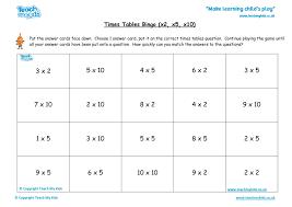 Times Tables Bingo - Hard (x2, x5, x10) - TMK Education