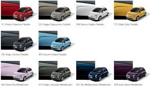 Fiat 500 Colour Chart General New Colours On The Way The Fiat Forum