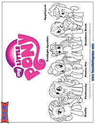 My Little Pony Characters And Names Coloring Page H M Coloring Pages