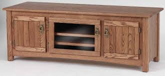 Solid Oak Mission Style TV Stand w/Cabinet- 60