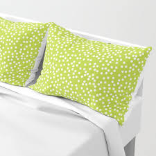 lime green and white polka dot pattern