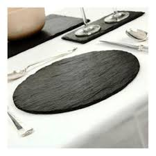 round slate placemats set of 2