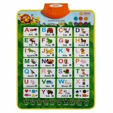 Details About Just Smarty Electronic Interactive Alphabet Wall Chart With Shapes Colors An