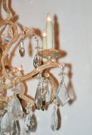 american excellent custom iron and rock crystal chandelier for