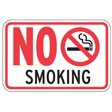 No Smoking Signage No Smoking Aluminum Sign Free Shipping Horizontal Standard Size