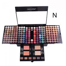 professional 180 colors matte shimmer eyeshadow palette makeup set with brush mirror shrink cosmetic case makeup kit