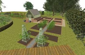 Layout Of Kitchen Garden Lucy Benham A Kitchen Garden Sussex
