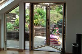 a two panel sunflex sf55c bi folding door system outside