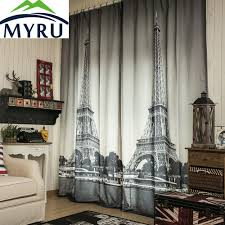 White And Black Curtains For Living Room Popular Paris Window Curtains Buy Cheap Paris Window Curtains Lots