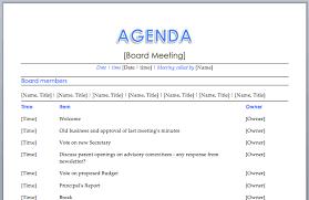 agenda of a meeting format board meeting agenda meeting agenda templates