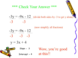 now try this convert to slope intercept form
