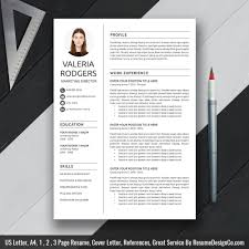 Creative Resume Template 2019 Cover Letter Cv Template 1 3 Page Modern And Professional Resume Office Word Instand Download Valeria