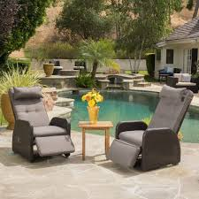 christopher knight home puerta grey outdoor wicker sofa set. Ostia Wicker Recliner With Cushion (Set Of 2) By Christopher Knight Home | Overstock Puerta Grey Outdoor Sofa Set K