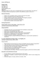 Resume Cover Letter For Lpn Resume And Cover Letter Lvn Resume Examples Sample Resume Example