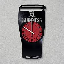 vinyl record wall clock guinness irish beer decor unique gift ideas for friends him her boys