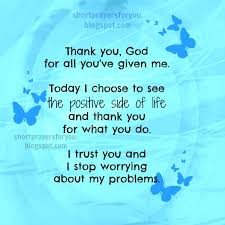 Thank You Christian Quotes Best of Short Christian Prayer Thank You God For All You've Given Me
