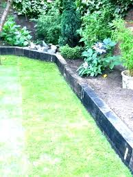 red brick walk path with wooden wood garden edging ideas nz garden edging ideas nz