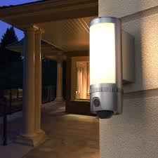 Motion Light With Alarm Freecam L910 Gray Floodlight Security Wifi Camera Motion Detected Hd1080p Wall Light Security Ip Camera Two Way Talk With Alarm