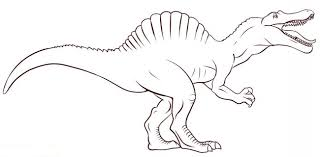 Small Picture Draw Spinosaurus Coloring Pages 67 In Line Drawings with