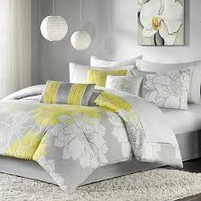 gray and yellow bedding. Interesting Yellow Madison Park Lola Comforter Set GrayYellow Intended Gray And Yellow Bedding A