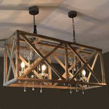 attractive wood chandelier pickndecor com pertaining to rustic rectangular remodel 17