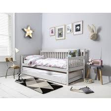 isabella day bed in white with pullout trundle