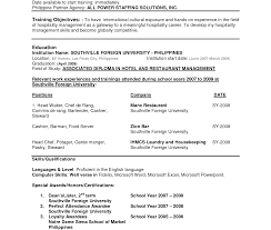 Stunning Resume Format Examples Templatesample Pdf Philippines