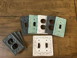 Double Light Switch With Outlet Cover Light Switch Cover Double Light Switch Cast Iron Switch