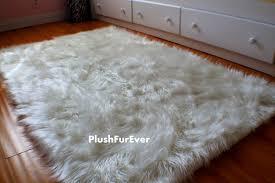 fur area rug white faux fur rug target fake fur rugs