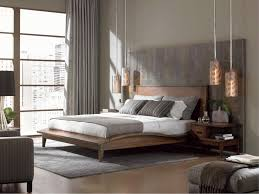 scandinavian bedroom furniture. Amusing Scandinavian Bedroom Furniture With Unique Pendant Lamp And Wooden Frame Bed Grey Curtain Also Fur