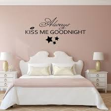 romantic bedroom wall decals. Always Kiss Me Goodnight Bedroom Romantic Wall Decal Vinyl Art Sticker Love Quote Home Decor 15\ Decals L